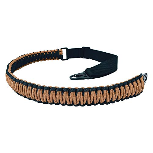 BOOSTEADY Paracord 2 Point Rifle Sling with HK Style Clips, Adjustable 550 Rated Nylon Gun Strap for Rifle Shotgun and Airsoft