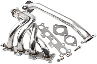 AJP Distributors For 1994-1997 MAZDA MIATA MX-5 1.8L JDM 2PC STAINLESS STEEL PERFORMANCE EXHAUST HEADERS SYSTEM + GASKET + BOLTS