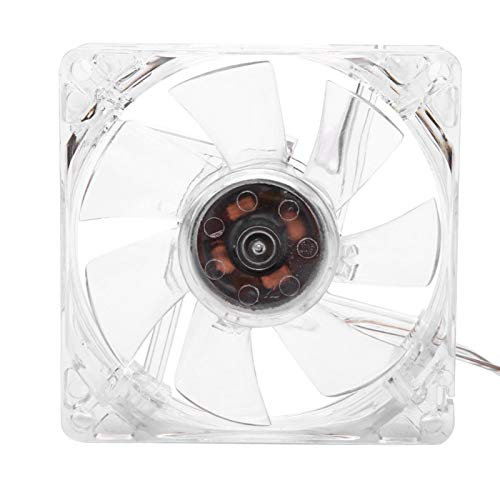 Demeras CPU Cooling Fan 8cm USB Cooling Fan 5V CPU Cooling Fan for PC Computer with Colorful Light