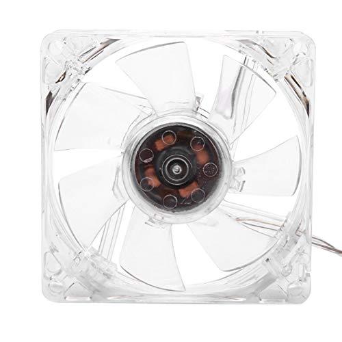 Ventilador de enfriamiento, Durable 8cm USB Luz colorida Ventilador de enfriamiento transparente Ventilador de enfriamiento de CPU de 5 V, Velocidad del ventilador 800 ± 10% RPM, para computadora PC,