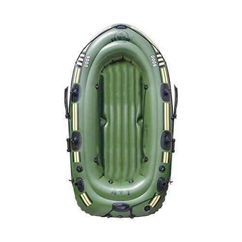 qianele PVC Inflable Kayak Doble válvula Bote Inflable portátil Plegable tamaño Adecuado...