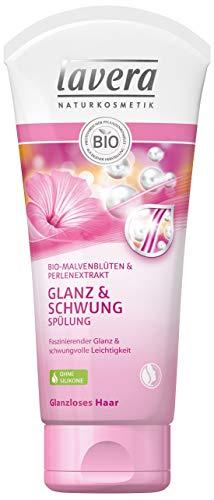 Lavera Hair Care - Flacon de soin pour cheveux brillants aux fleurs de peintre et extrait de perles, soin bio et cheveux innovants naturels et innovants 100 % cosmétique naturel, 200 ml