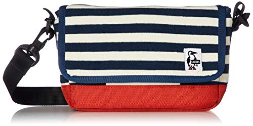 [チャムス] カメラバッグ Small Camera Shoulder Sweat Nylon Navy Border/Tomato