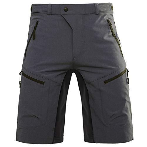 Hiauspor Mens Mountain Bike Shorts Baggy MTB Shorts Men Loose Fit Biking Cycling Short with Pockets