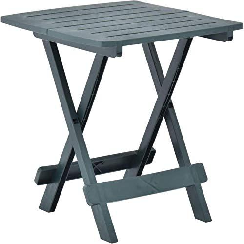 FCYQBF Mesa de jardín Plegable Mesa de Centro Mesa de Comedor pequeña Diseño de Listones para terraza de Patio Blanco 45x43x50 cm Plástico