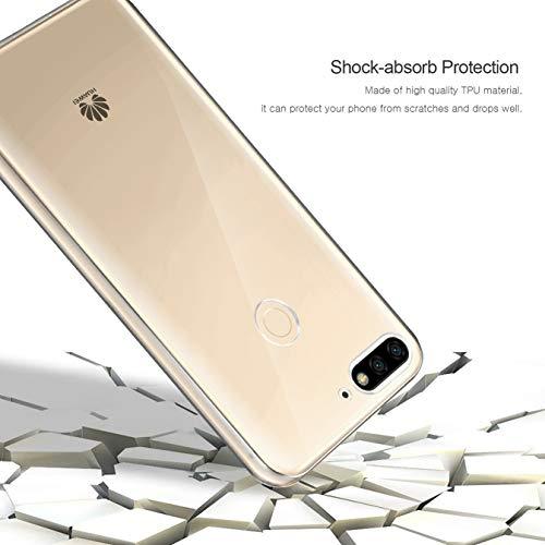 AROYI Huawei Y7 2018 /Honor 7C/ Y7 Prime 2018 Hülle 360 Grad Handyhülle, Silikon Crystal Full Cover [ PC Zurück + TPU Vorderseite] Vorne und Hinten Schutzhülle für Huawei Y7 /Honor 7C/ Y7 Prime 2018 - 4