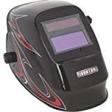 Ironton Variable-Shade Auto-Darkening Welding Helmet with Grind Mode - Black Flame