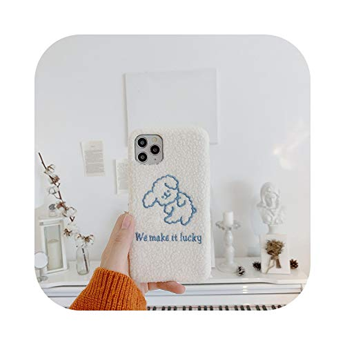 Para la felpa lindo perro Apple X/XS/XR funda del teléfono móvil 11Pro / Max 8plus 7 iPhone 12 Pro max hembra suave shell anti-caída caso-maoronggougou-Para iPhone 11 Pro