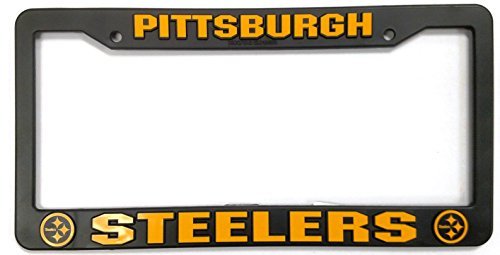 Rico Pittsburgh Steelers Official NFL 12 inch x 6 inch Plastic License Plate Frame Industries