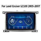 XMZWD 9 Pollici Autoradio di Navigazione GPS per Auto-Stereo per Toyota Land Cruiser 100 2005-2007, Lettore MirrorLink con Bluetooth WiFi Android FM USB NAV 2 DIN 1g + 16g