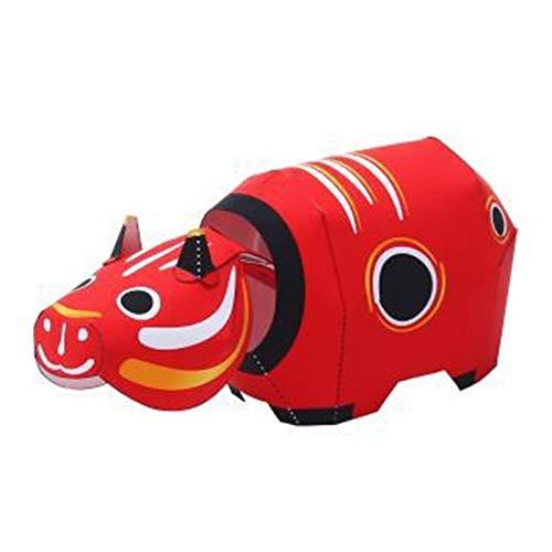 Modelo de Papel 3D Juguetes de la Vaca roja Craft Craft Crafts Padre-Hijo DIY Kindergarten Actividades Hecho a Mano Origami Sorpresa Regalo para niños