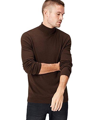 Amazon-Marke: find. Herren Pullover Roll Neck, Braun (Zinfandel), M, Label: M