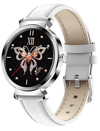 YGMDSL Reloj Inteligente para Mujer, Pulsera Inteligente, Smartwatch, Rastreador Deportivo Impermeable, Reloj Rastreador De Fitness, Reloj Inteligente para Mujer De Moda, Reloj De Pulsera (White)