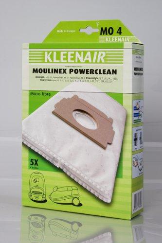 5 Staubsaugerbeutel für Moulinex Powerclean AP 8.01, AK 1, AK 2, AK 3, AK 4, AK 5, AK 6, AK 7, AK 8