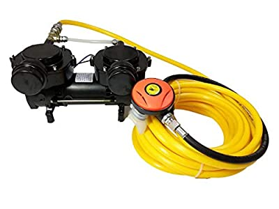 HPDMC Oil-Free Hookah Dive System Third Lung Serface Vacuum Pump for Snorkeling (120W)