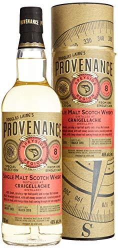 Douglas Laing Craigellachie Provenance 8 Years Old Single Malt Scotch mit Geschenkverpackung 2008 Whisky (1 x 0.7 l)