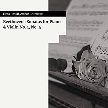 Beethoven : Sonatas for Piano & Violin No. 1, No. 4