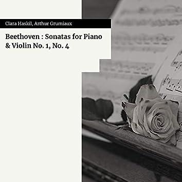 Beethoven : Sonatas for Piano & Violin No. 1, No. 4