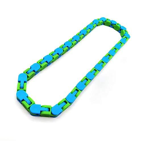 Spielzeug Zappelkette Puzzle Chain Toys Schlange Armband Fahrradkette Zappeln Spinner Lernspielzeug Sensory Fidget Buntes Zufällige Farbe Lustige für Kinder Erwachsene