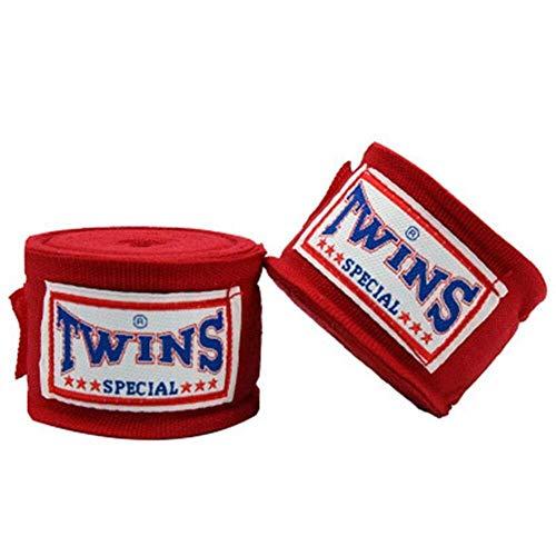 Boxausrüstung 2 Teile / paket 5 Mt Stretch Baumwolle Kickboxen Verband - Handgelenk Band Sanda Taekwondo Muay Thai Verband - Fitnessstudio Sport Schutzausrüstung für Boxenthusiasten ( Color : Red )