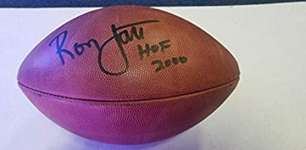Ronnie Lott Autographed Signed Inscribed Hof 2000 Wilson NFL Football JSA