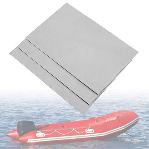 Yosoo Health Gear Kit di Riparazione gommone Gonfiabile in PVC, Kit di Patch di Riparazione Impermeabile in PVC 3 Pezzi Set di gommoni gonfiabili per Barca Gonfiabile per Canoa Kayak(Grigio Bianco)