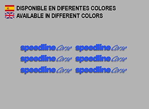 Ecoshirt AQ-9Q7X-W52P Aufkleber Speedline Corse F196 Stickers Aufkleber Decals Adesivi Rallye Racing, Blau
