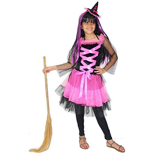 Pegasus Vestito Costume Maschera di Carnevale Halloween Bambina - Strega Sabrina - Taglia 9/10 Anni 115 cm