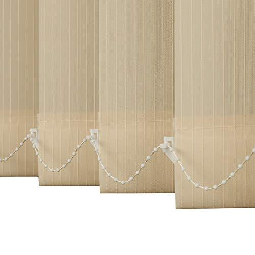 ZXXL Jalousien Schlafzimmer Vertikale Jalousien, Fensterläden für Schiebetür/Raumteiler/Glaswand, 80cm / 90cm / 100cm / 110cm / 120cm Breit (Size : 100×180cm)
