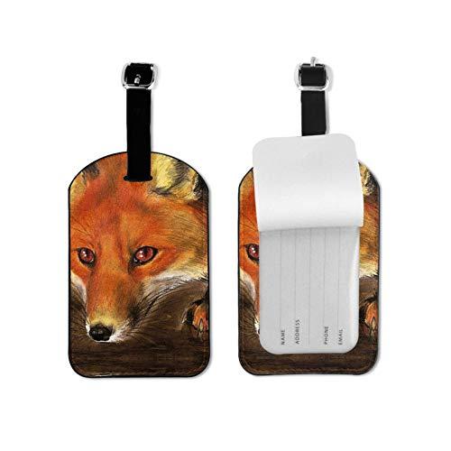 Space Foxes Etiquetas de equipaje de viaje Etiquetas de equipaje de equipaje de equipaje Etiquetas de maleta Titular de tarjeta