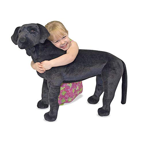 Melissa & Doug Black Lab - Plush | Soft Toy | Animal | All Ages | Gift for Boy or Girl