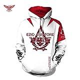 XYQB Sweats à Capuche thème Assassin's Creed Homme, Sweat-Shirt à Capuche en Polyester décontracté Couple de Sweatshirt extérieur,B,XL