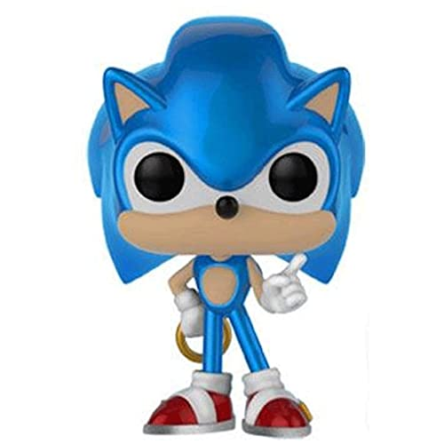 Jokoy Funko Pop Sonic The Hedgehog #283 Sonic with Ring ( Metallic Exclusive Original Box) Multicolor