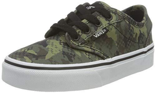 Vans Atwood Canvas Sneaker, Zapatillas, Camuflaje Mixto Negro/Blanco, 36 2/3 EU