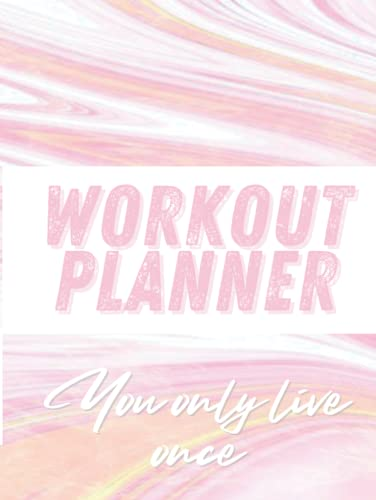 Marble Workout Planner For Women: Design your training, track your progress, and get healthy! | A simple fitness journal to help you achieve your goals.