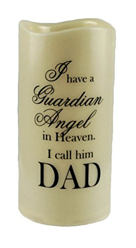 Guardian Angel in Heaven Dad Flameless Memory Candle