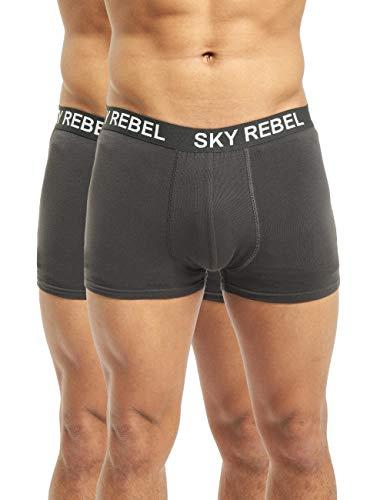 Sky Rebel Herren Boxershorts Double Pack grau M