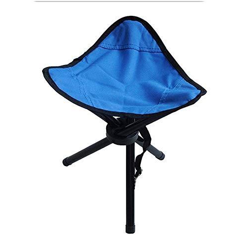 JONJUMP Taburete de camping al aire libre plegable silla trípode triangular plegable pesca para viajar portátil mate plegable