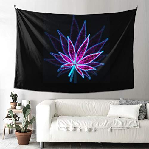 BAIFUMEN - Tapiz decorativo para colgar en la pared, diseño de hojas de marihuana, color morado