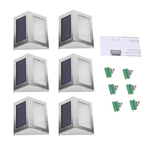 Ejoyous Solarlampen für Außen, Solarleuchten für Außen, wasserdichte Wandleuchte Solar für die Wandmontage, Nachtlicht, 6-stufige LED-Lampe (6 pcs)