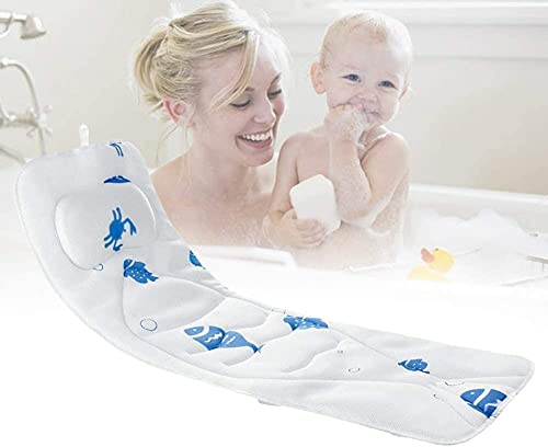 YUnZhonghe Almohada de baño de Cuerpo Completo - Sin resbalón, Estera de Lujo, Almohadas de baño para bañera y Soporte Trasera Máquina de Secado rápido Lavado de Lavado Seguro