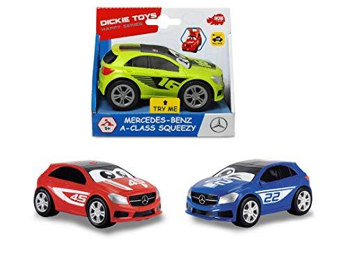Dickie Toys Mercedes A-Klasse Squeezy mit knautschbarer Karosserie, weicher, knautschbarer Body, farbecht und speichelfest, abgerundete Kanten, 3-fach sortiert, 11 cm