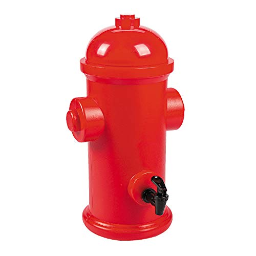 Fire Hydrant Drink Dispenser (holds 1.75 Gallons) Firefighter and Dog Paw Party Supplies