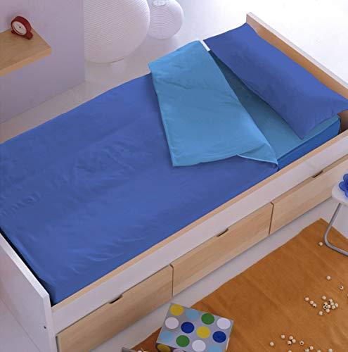 Denisa Home Saco Nórdico Liso con Relleno 200 Gr/m2 (Disponible en 10 Colores) (90 cm, Azul-Cielo)