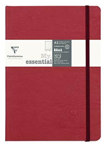 Clairefontaine 793432C Notizbuch AgeBag My Essentials, DIN A5, 14,8 x 21 cm, 96 Blatt, dot, nummeriert, 90g, 1 Stück, grün