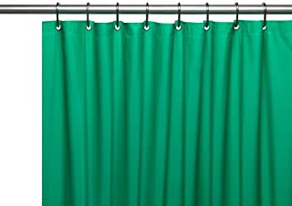 Carnation Home Fashions Hotel Collection 8-Gauge Vinyl Shower Curtain Liner with Metal Grommets, Emerald