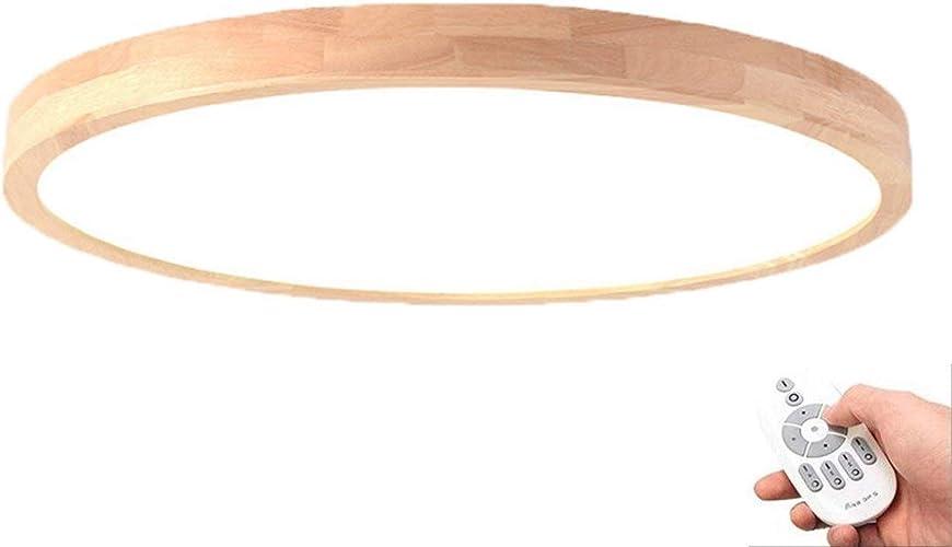 Lampe De Plafond Lampe en Bois Ronde Bois Lampe Chêne Plafond Lampe Chambre Vintage Lampe Plafond Retro avec LED Lampe De Cuisine Lampe De Cuisine Salon Intérieur