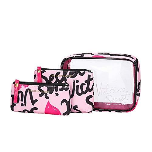 Style de Portable PVC Marque Sac étanche cosmétiques Voyage de PORTIER Trousse de Toilette Mode Transparent (Color : Dark Grey)