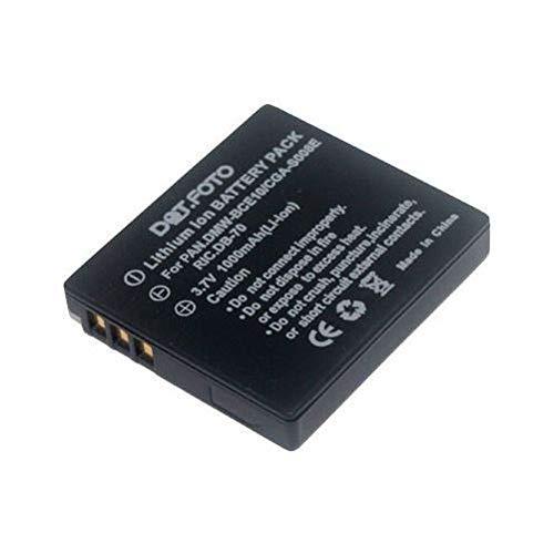 Panasonic CGA-S008, CGA-S008E, DMW-BCE10 Dot.Foto Batería de Reemplazo - 3.7v / 1000mAh - Garantía de 2 años - Panasonic Lumix DMC-FS20, DMC-FS3, DMC-FS5 / DMC-FX30, DMC-FX33, DMC-FX35, DMC-FX36, DMC-FX37, DMC-FX38, DMC-FX500, DMC-FX520, DMC-FX55
