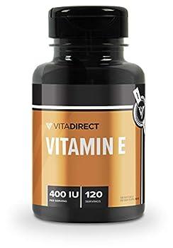 VitaDirect Premium Vitamin E Capsules 400IU 120 Softgels - 120 Servings